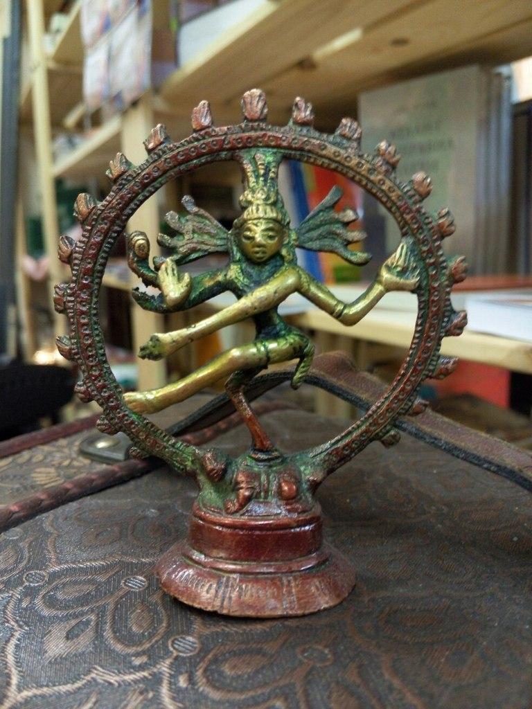 Шива натарадж статуэтка бронза 9,5см