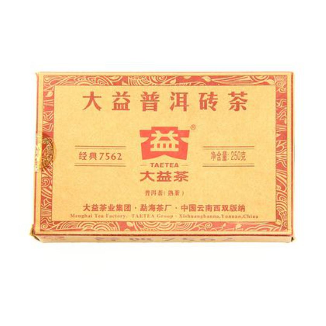 Пуэр прессованный шу taetea 7562 плитка 250 г (250г) пуэр прессованный шу старый товарищ плитка 250г