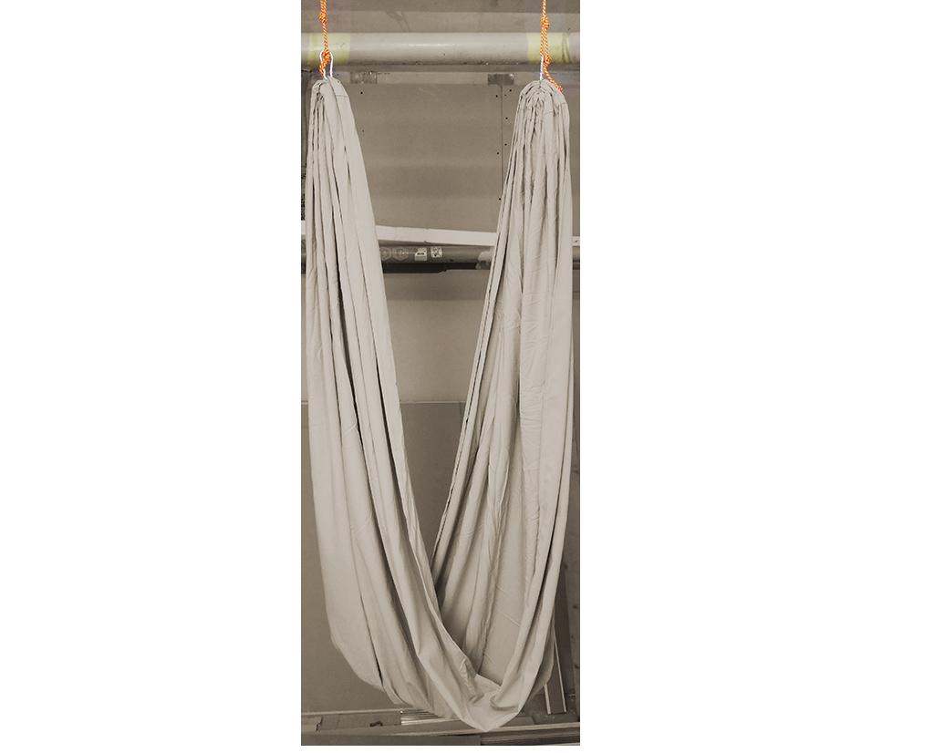 Полотно для йоги AirSwing Lux (1.5 кг, 320 см, бежевый, 150см)