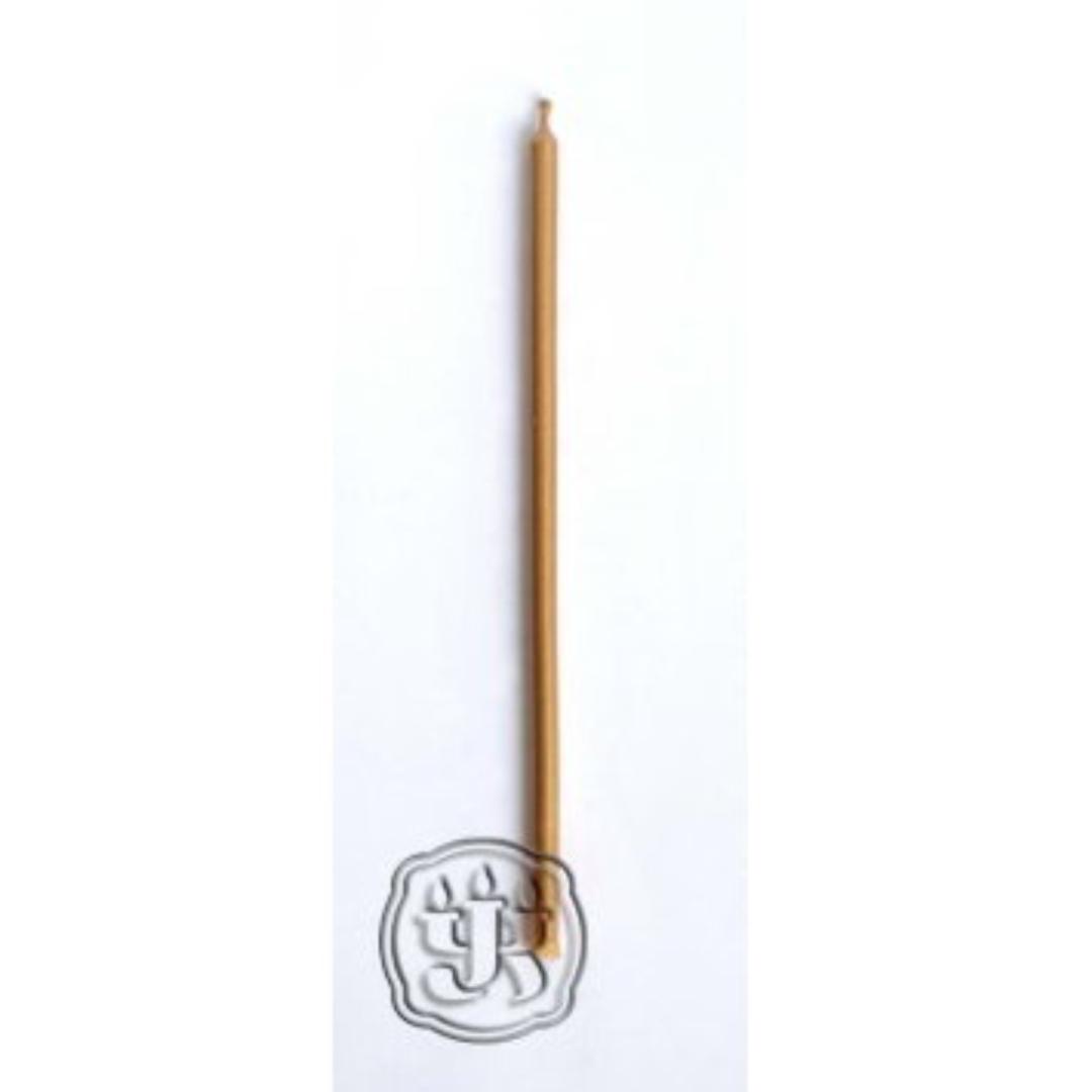 Свеча восковая двухчасовая золотая 20 см (0,05 кг, см, золотой)