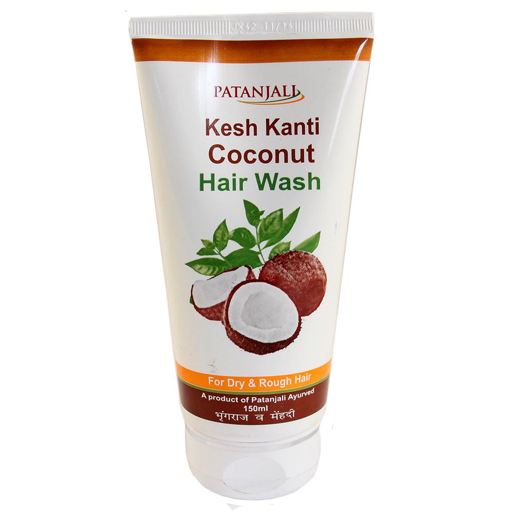 где купить Шампунь для сухих и поврежденных волос Kesh Kanti Coconut Hair Wash Patanjali дешево