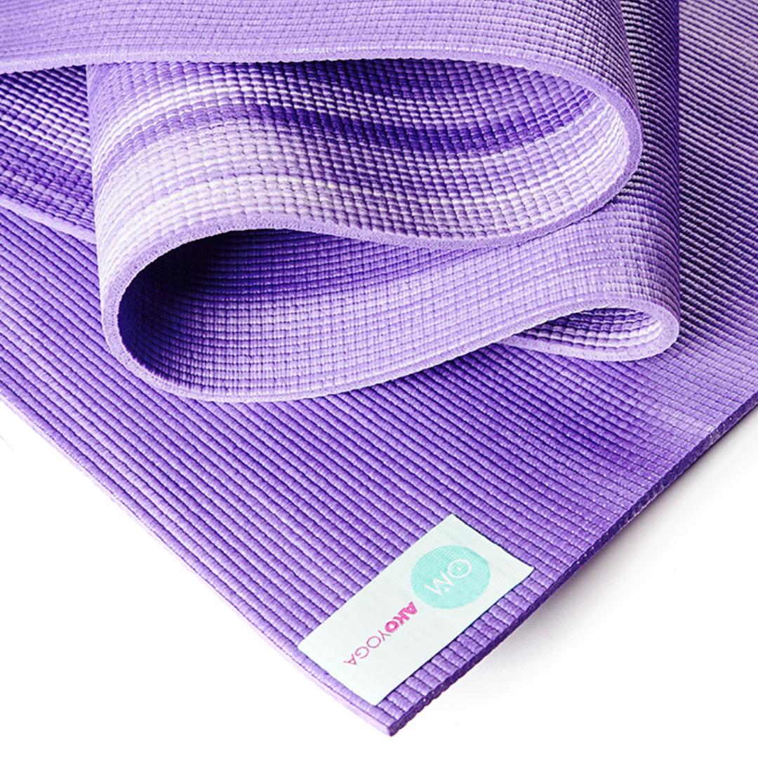 Коврик для йоги Ганг (1.6 кг, 185 см, 6 мм, фиолетовый, 60см) ганг сумка viviana 3х26х37 см