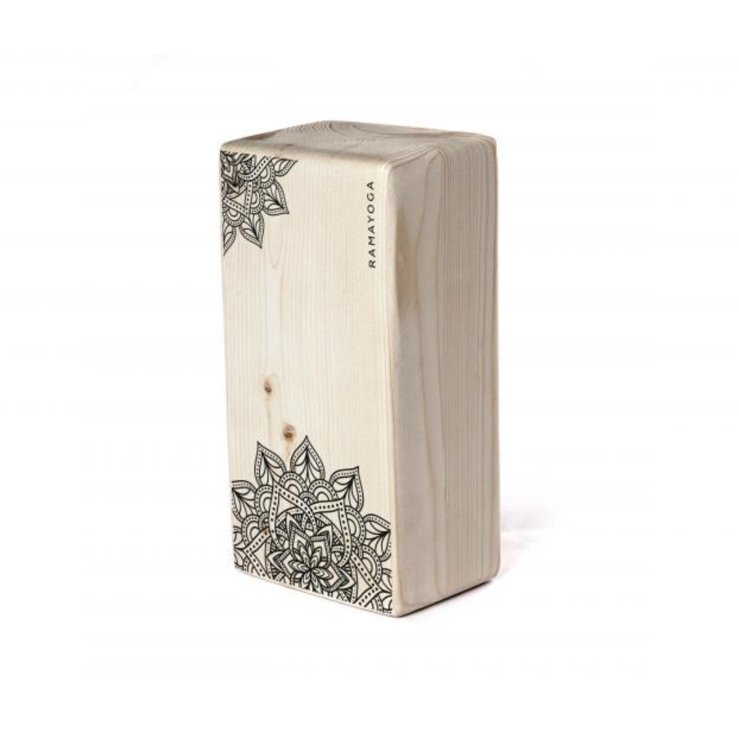 Фото - Кирпич для йоги с дизайном Цветок Жизни (1 кг, 8 см, 23 см, бежевый, 11 см) кирпич