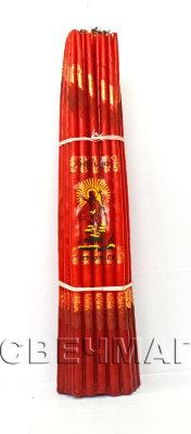 Свеча иерусалимская красная парафиновая (красный)