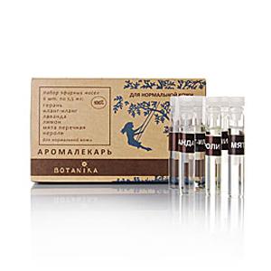 Нормальная кожа набор эфирных масел 6х1,5мл Ботаника (6 шт. по 1,5 мл.)