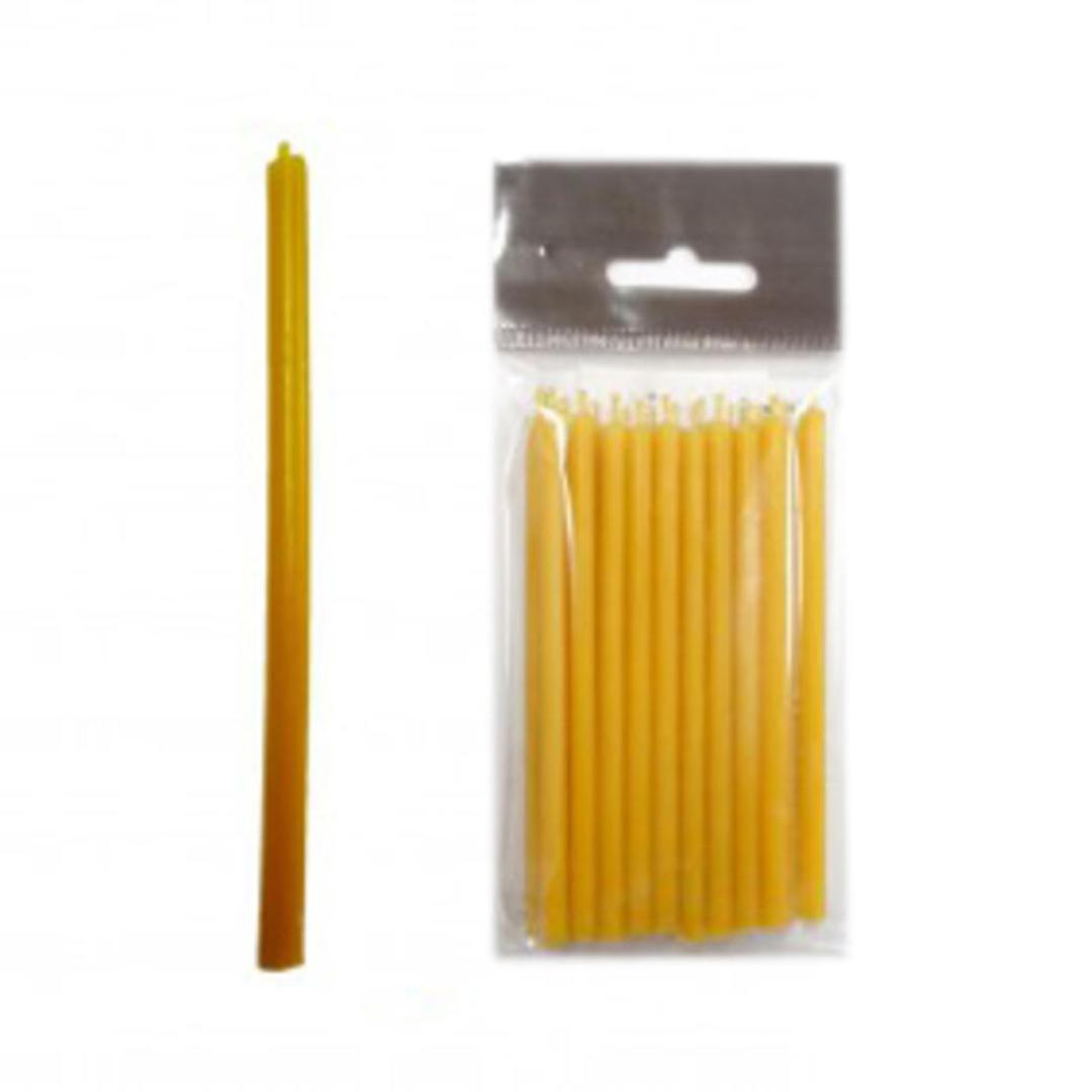 Свеча восковая 10 см желтая (пасч02 0,05 кг, желтый)