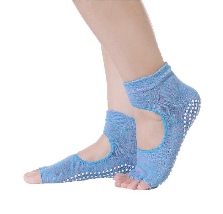 Носки с открытыми пальчиками Health Рамайога (голубой) носочки с вырезом и открытыми пальчиками для йоги рамайога 0 1 кг розовый