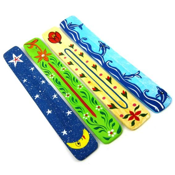 Подставка лыжа с рисунком цветная (N1)