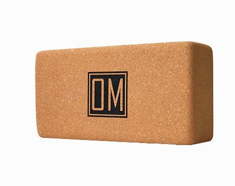 Кирпич для йоги из пробки с принтом Ом YC ( Yoga Club коричневый 0.9 кг 7 см 22,5 см 11 см )