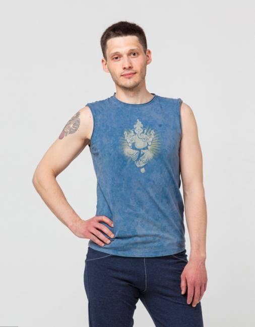 Майка мужская Ганеша  Yogadress (XL (52), синий (джинсовый))