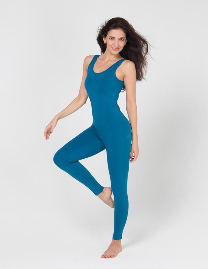 Комбинезон для йоги и фитнеса Miss Incredible YogaDress (0,3 кг, S(44), голубой  морская волна)