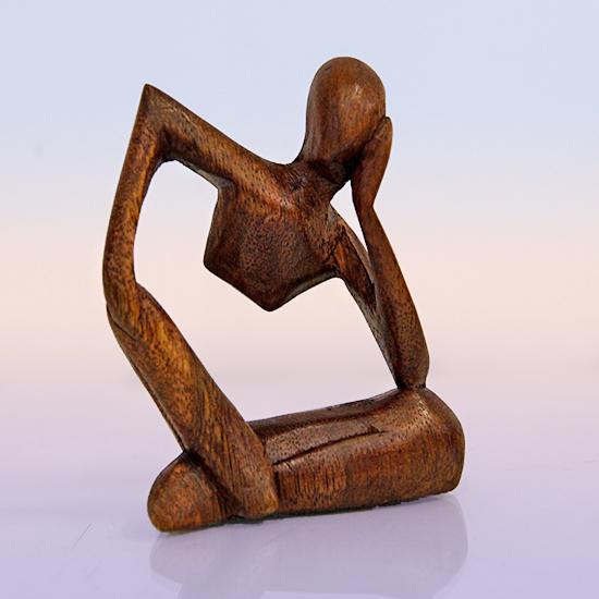 Фигурка йог из индонезийского дерева ручная работа 10см