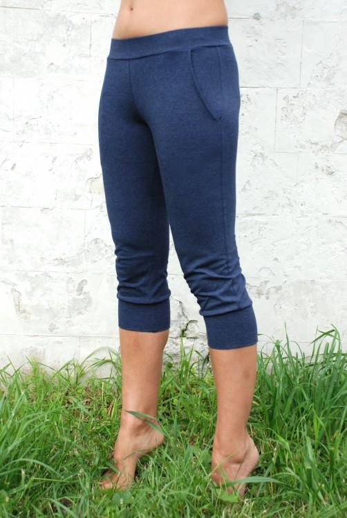 Бриджи женские темно-синий меланж YogaDress.  (S(44))