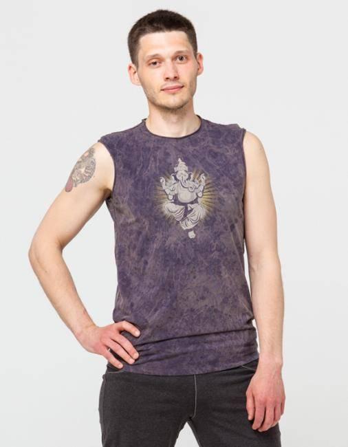 Майка мужская Ганеша  Yogadress (L (50), серый (графит))