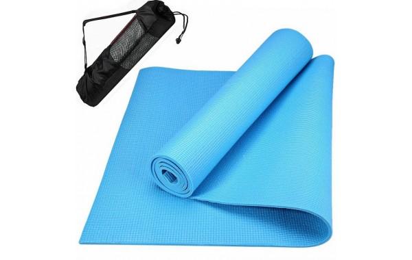Коврик для йоги Blue ZEN 4мм (0.8 кг, 173 см, 4 мм, голубой, 60 см)