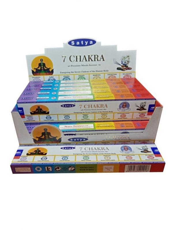 Благовония 7 Чакр Сатья Premium/ 7 Chakra Satya (15 г)