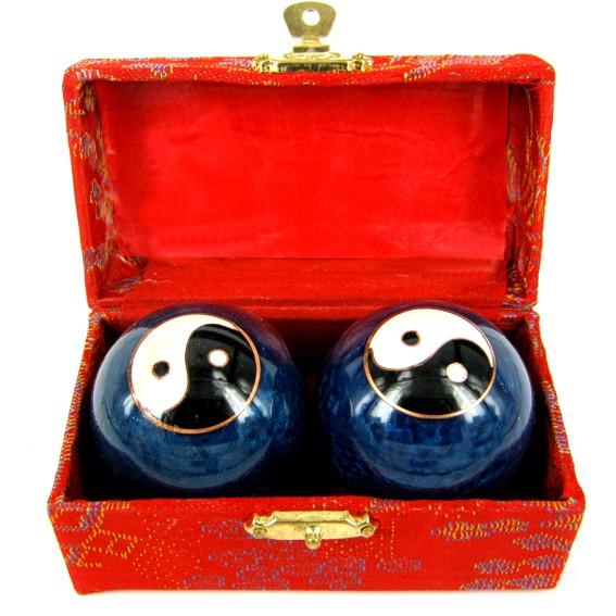 Шары баодинг поющие с инь-янь синие 47 мм (N415-2) шары aramith pool premier d57 2 мм