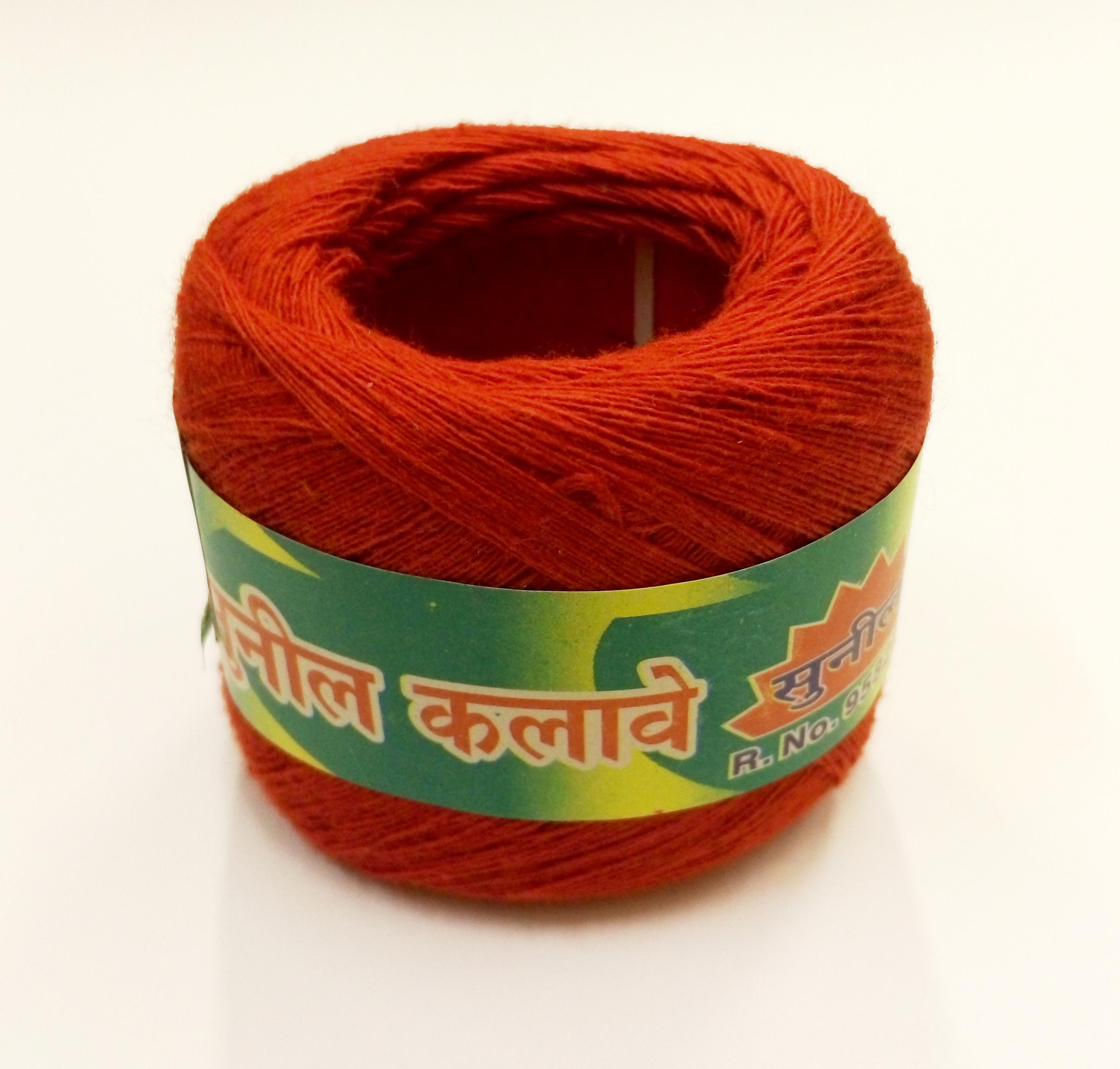 Красная нить большой моток на запястье для йоги / каббалы  (Нет, красный)