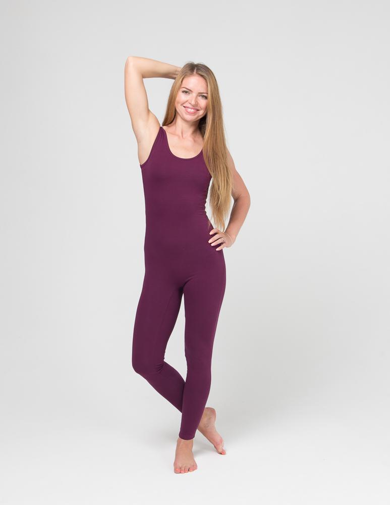 Комбинезон для йоги и фитнеса Miss Incredible YogaDress (0,3 кг, XS(42), фиолетовый  сливовый)