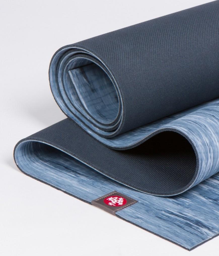 Коврик для йоги Manduka EKO Lite Mat 4мм из каучука Limited Edition (2,2 кг, 180 см, 4 мм, голубой, 61см (Ebb))