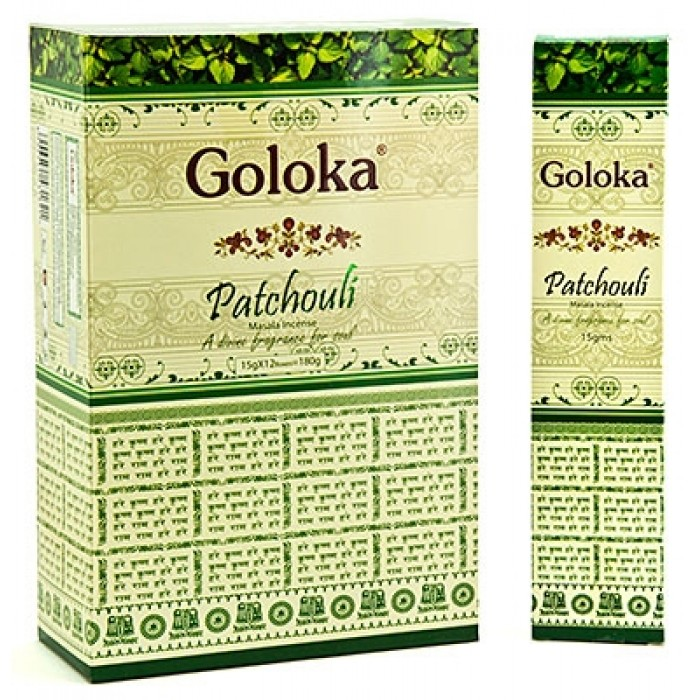 Благoвoниe пачули patchouli Goloka (15 г) благoвoния сандал chandan goloka 15 г 0 1 кг