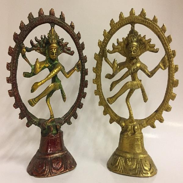 Шива натарадж статуэтка бронза 12,5см ( желтый )