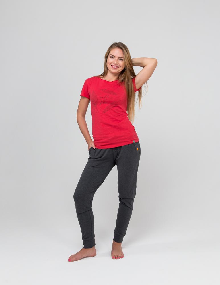 Футболка женская Wild & Free YogaDress (0,3 кг, S (42-44), красный) женская одежда для спорта
