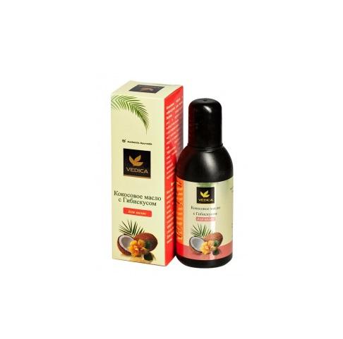 Кокосовое масло для волос с гибискусом Veda Vedica (100 мл) крем ночная защита veda vedica 50 г