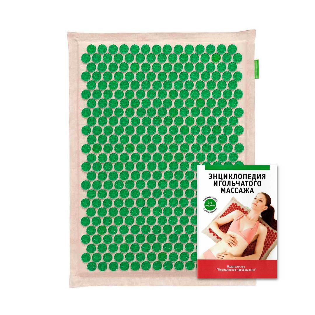 Тибетский массажер-аппликатор зеленый без магнитов для чувствительной кожи 41 см*60 см (1 кг, 2 см, зеленый) цены онлайн