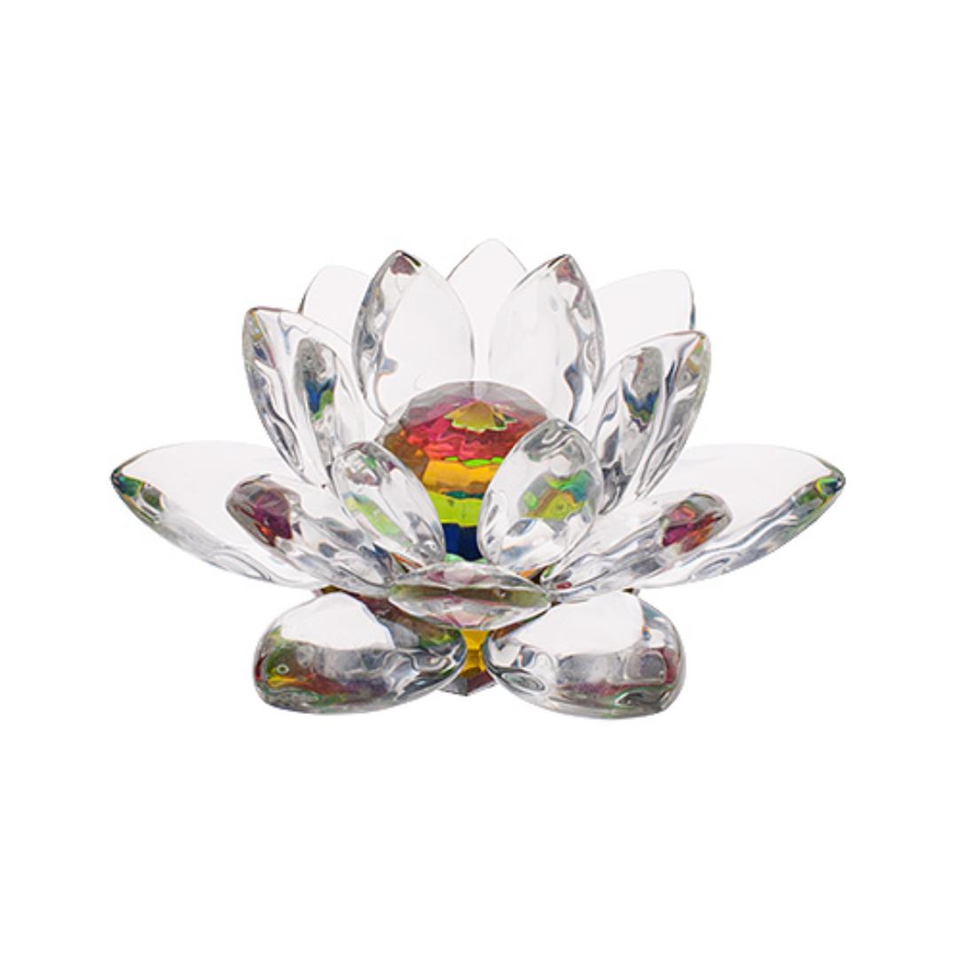 Кристалл лотос радужный стеклянный 18см (0,3 кг, 7 см , 18 см, см)