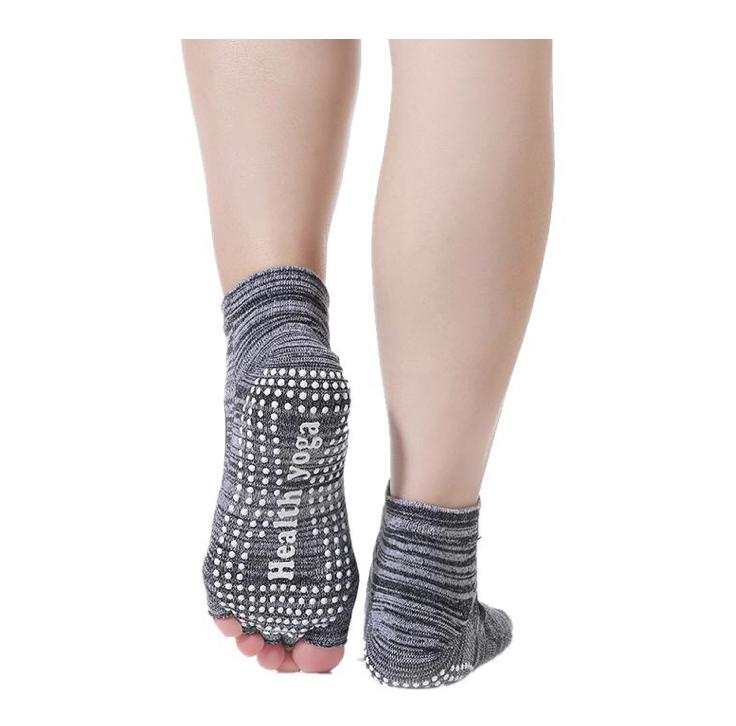Носки с открытыми пальчиками Health Рамайога (0,1 кг, серый) носочки с открытыми пальчиками для йоги и пилатеса 0 1 кг лиловый