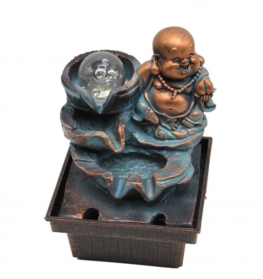 Фонтан настольный Хотей с шаром голубой (0,3 кг, 17 см, 12см)