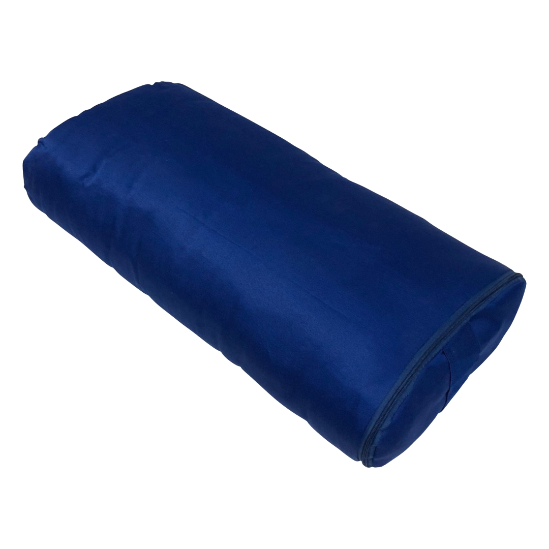 Болстер для йоги Айенгара прямоугольный шерстяной 60 см (2 кг, 60 см, синий) все цены