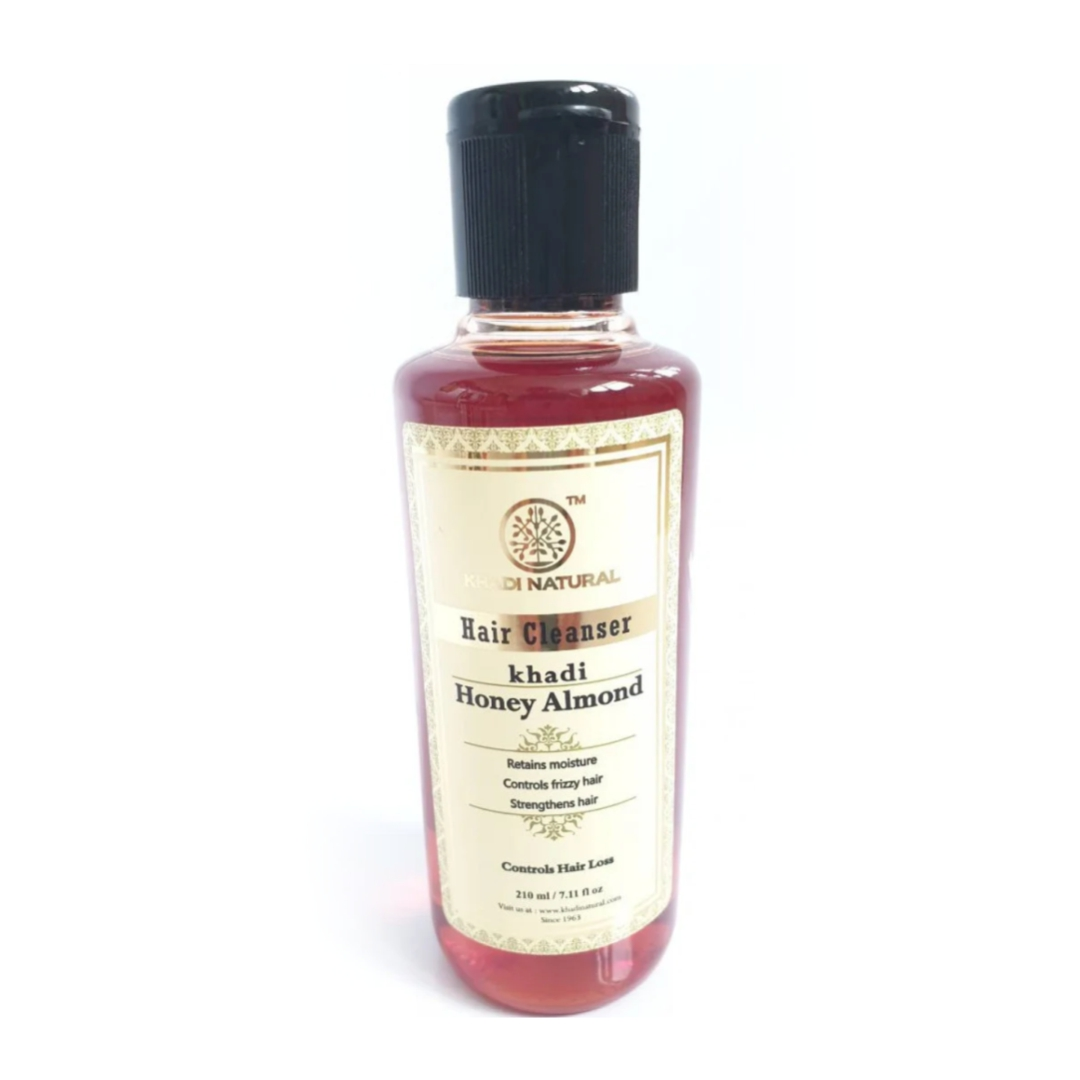 Шампунь мед миндаль Khadi Natural бальзамы os бальзам для волос горький миндаль с органическим маслом миндаля