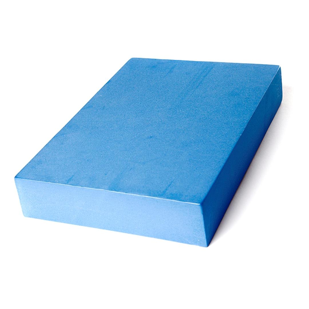 Опорный блок для йоги из EVA-пены плоский Yoga Block (5 см, 30 см, синий, 20 см)