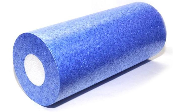 Ролик для пилатеса и йоги 33 см (0,3 кг, синий) носочки с открытыми пальчиками для йоги и пилатеса 0 1 кг лиловый