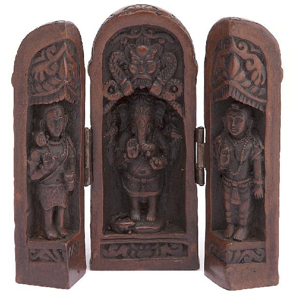 Сувенир складень Ганеша керамика 11 см (090313а)
