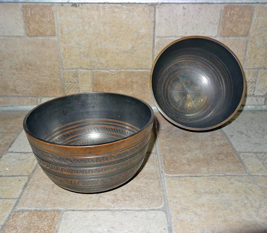 Чаша поющая медицинская бронзовая 13 см (7,5 см, 13 см, коричневый)