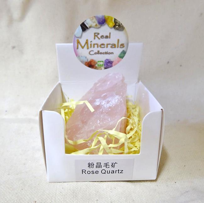 Кварц Розовый минерал/камень в коробочке Real Minerals Collection