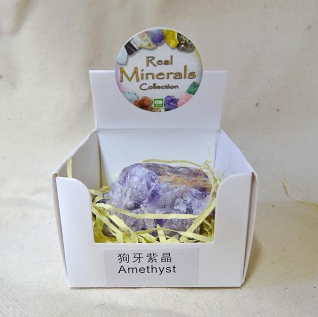Аметист минерал/камень в коробочке Real Minerals Collection
