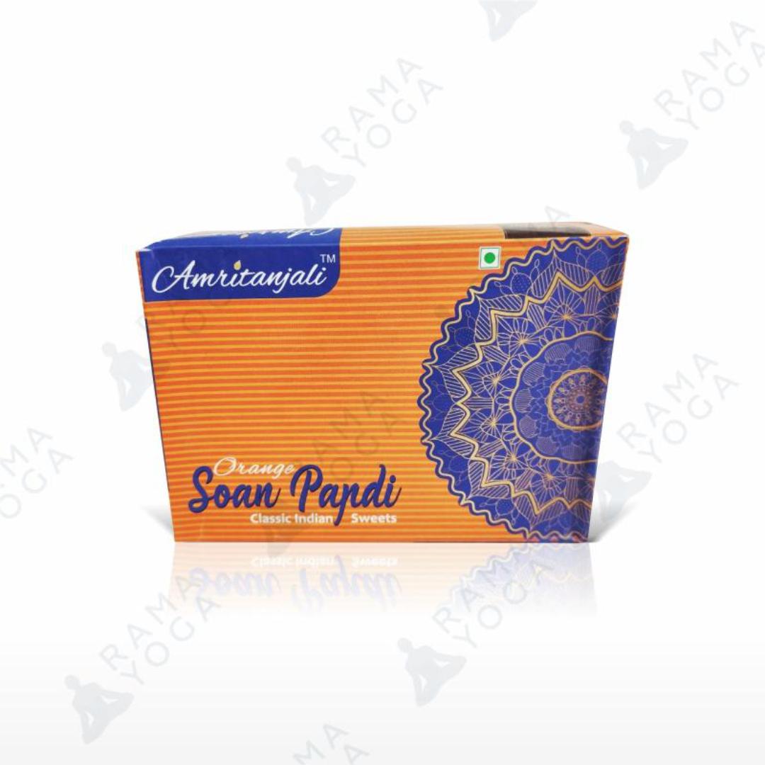 Индийская халва Соан папди с апельсином Золото Индии (250 г)