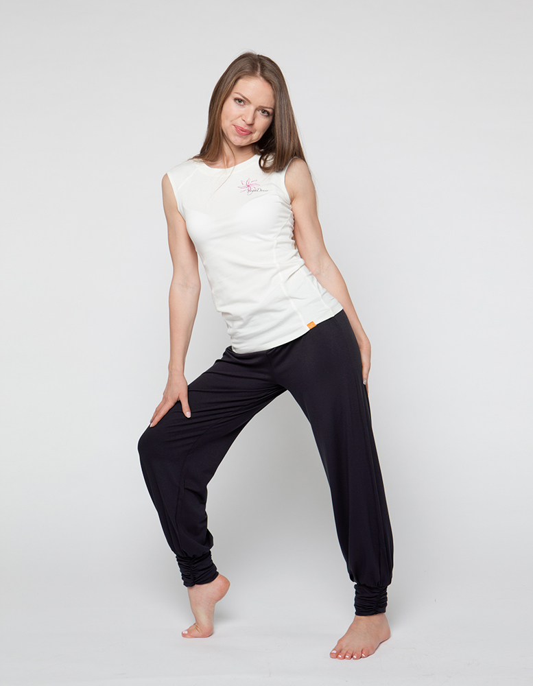 Штаны- гаремы длинные YogaDress (0,3 кг, XL (48-50), черный) штаны гаремы длинные yogadress l 46 48 серо голубой