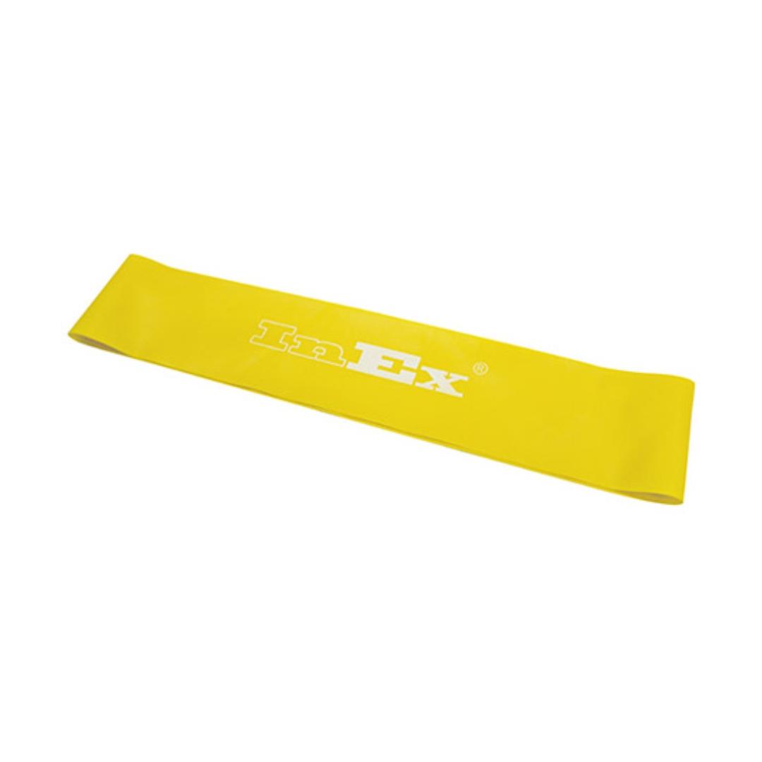Ленточный амортизатор слабого сопротивления (фитнес-резинка) miniband INEX (желтый) амортизатор минимальное сопротивление вocьмepкa body toner dittmann желтый желтый минимальное сопротивление