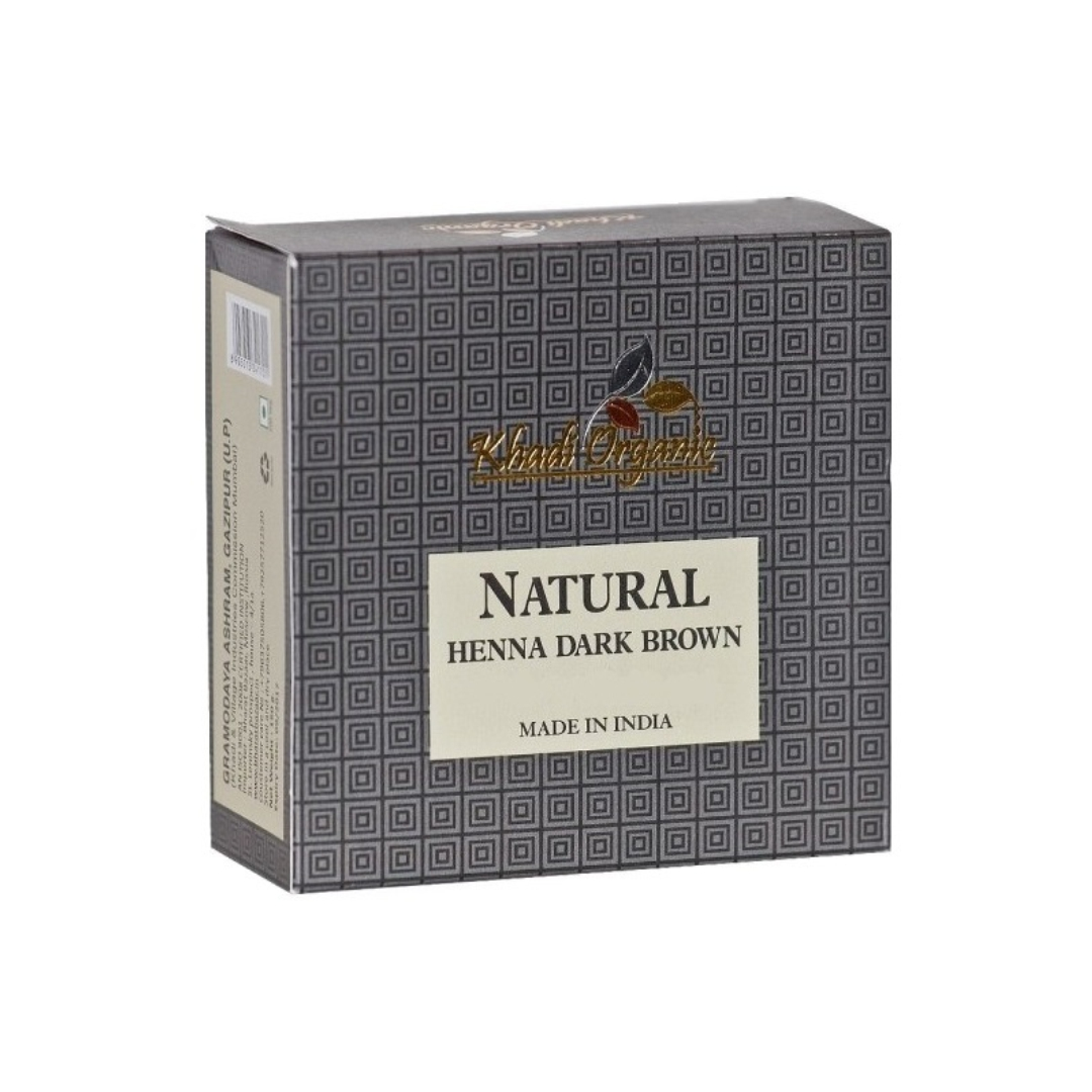 Хна натуральная темно коричневая Khadi Organic (100 г)