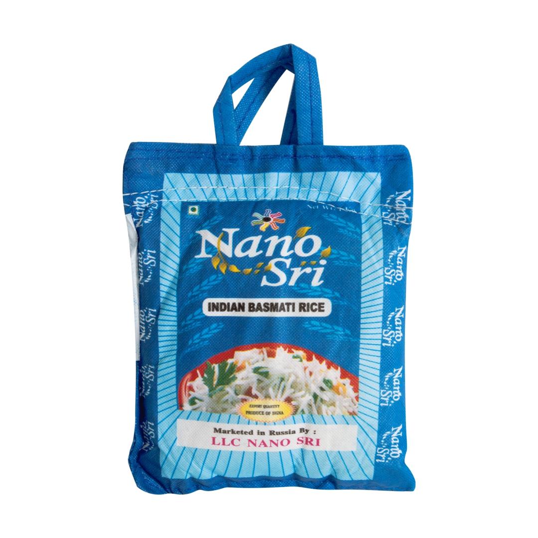 Рис нано шри басмати необработанный Nano Sri Indian Basmati Raw Rice (1 кг)