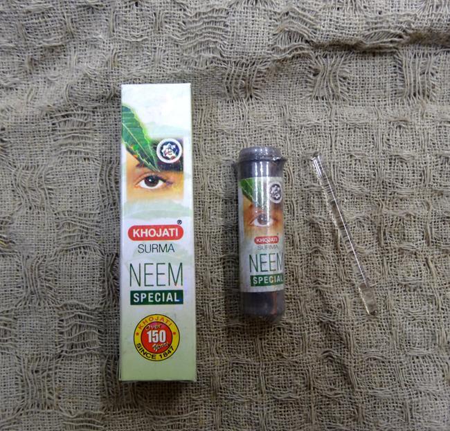 купить Сурьма порошковая черная антисептическая с нимом, с палочкой-аппликатором Khojati (2 гр) по цене 181 рублей