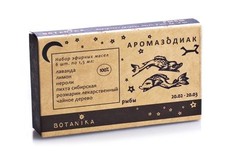 Рыбы набор эфирных масел 6х1,5мл Ботаника (6 шт. по 1,5 мл.)