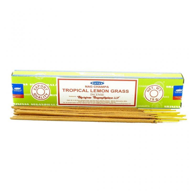 Благовония тропический лемонграсс Cатья серия incense / Tropical Lemongrass Satya (15 г)