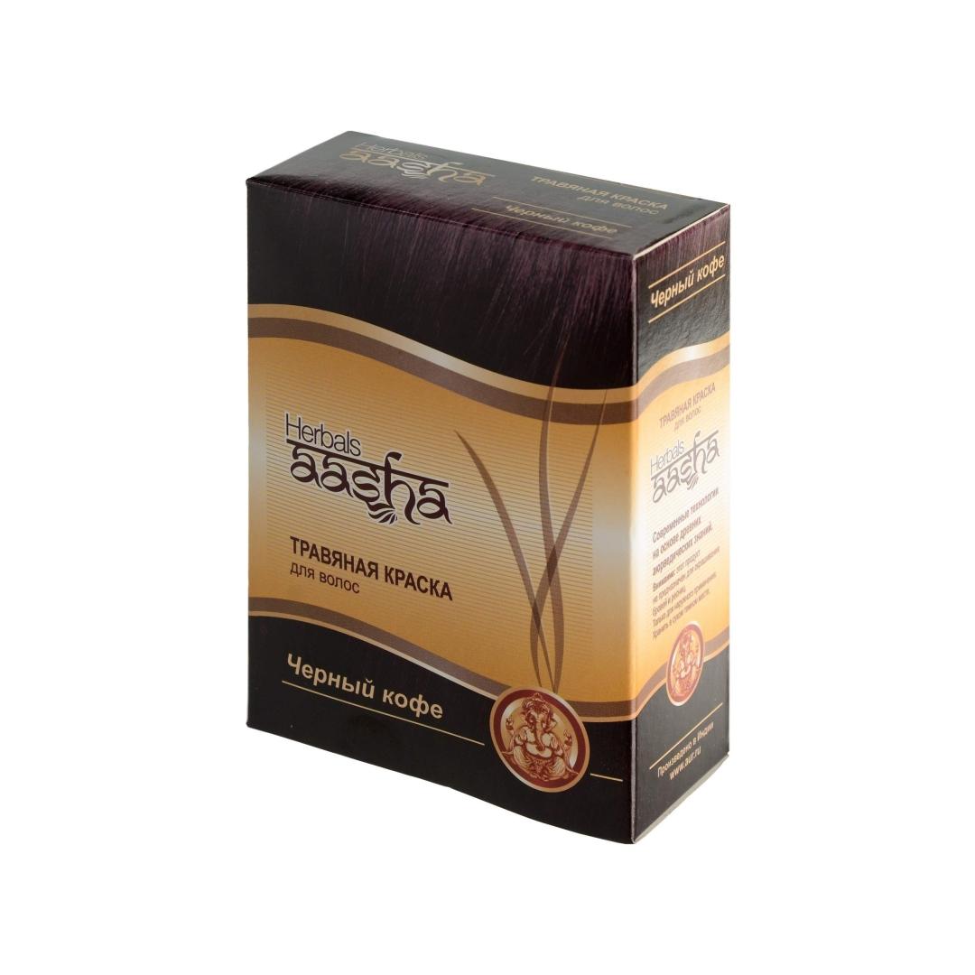 Травяная краска на основе хны черный кофе Aasha Herbals (60 гр)