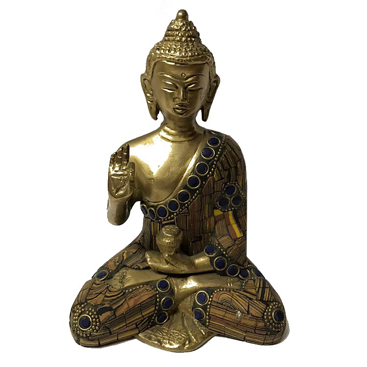 цена на Статуэтка Будда медицины с каменной крошкой бронза 14 см (2 кг, 14 см)